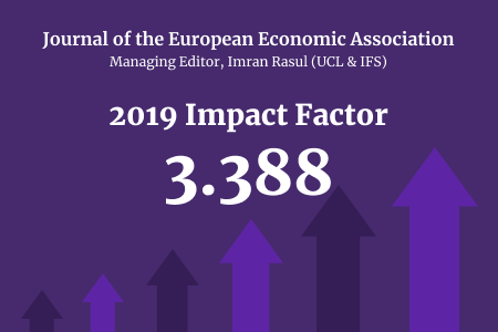 Journal of the European Economic Association. 2019 Impact Factor 3.388.